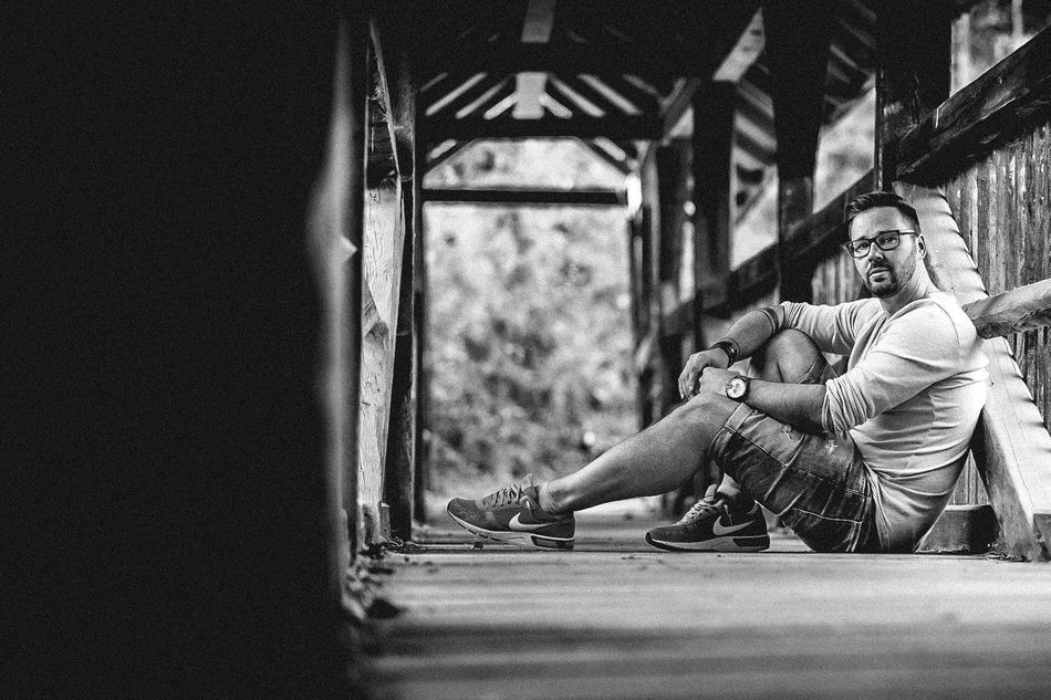 Myself Bridge Blackandwhite Positive Lifestyle Male Photooftheday Enjoying Life Austria EyeEm Best Shots