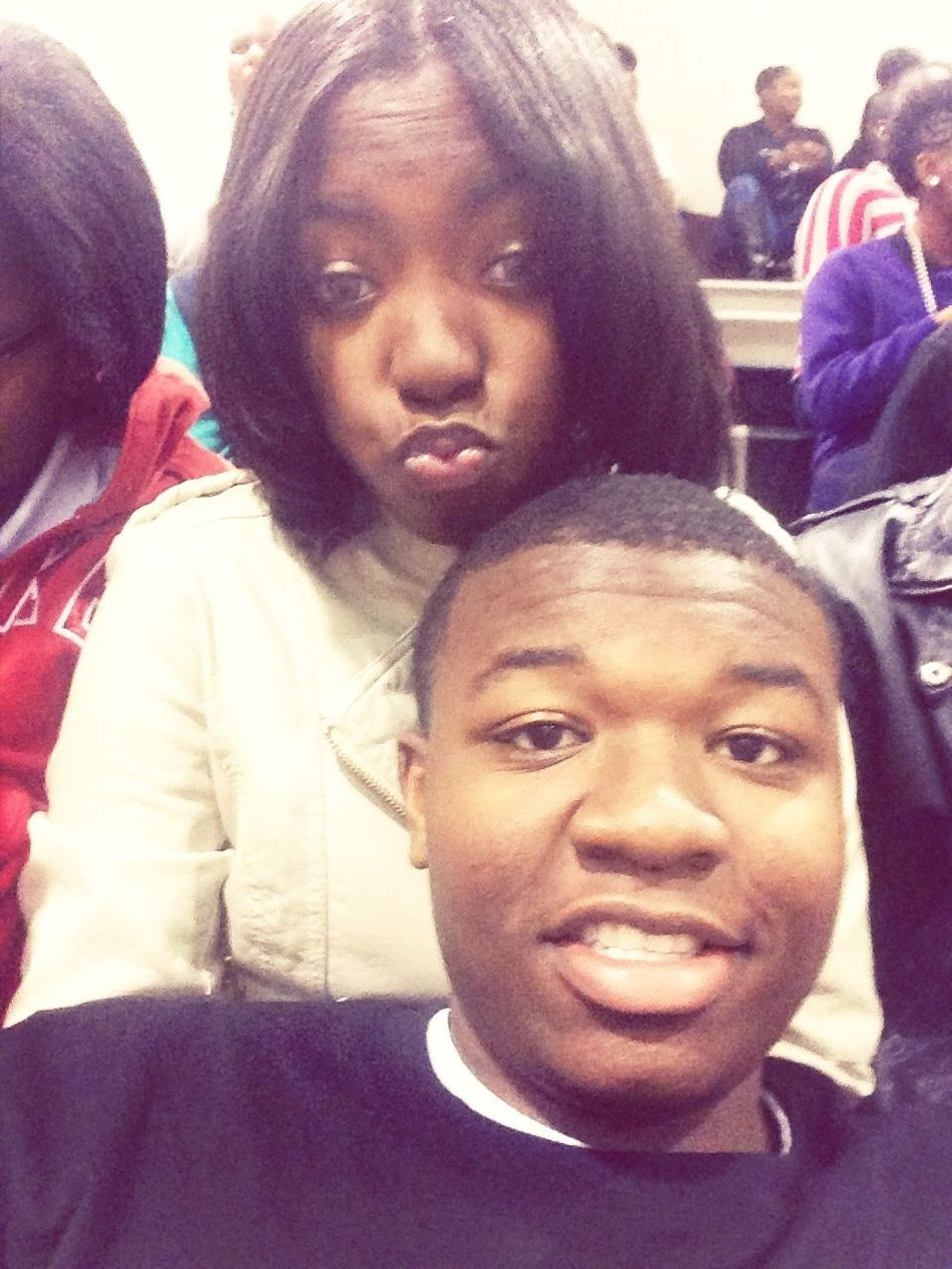 Me And My Baby At The Game Yesterday