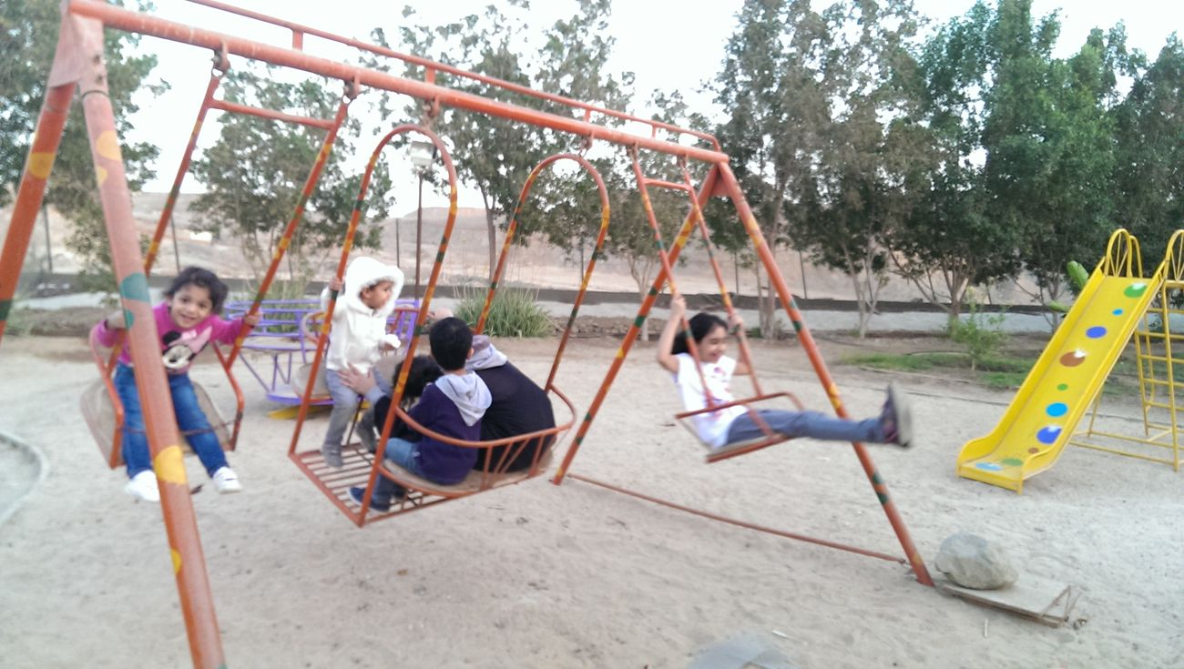 Having Fun Swinging Swinging Let's Swing