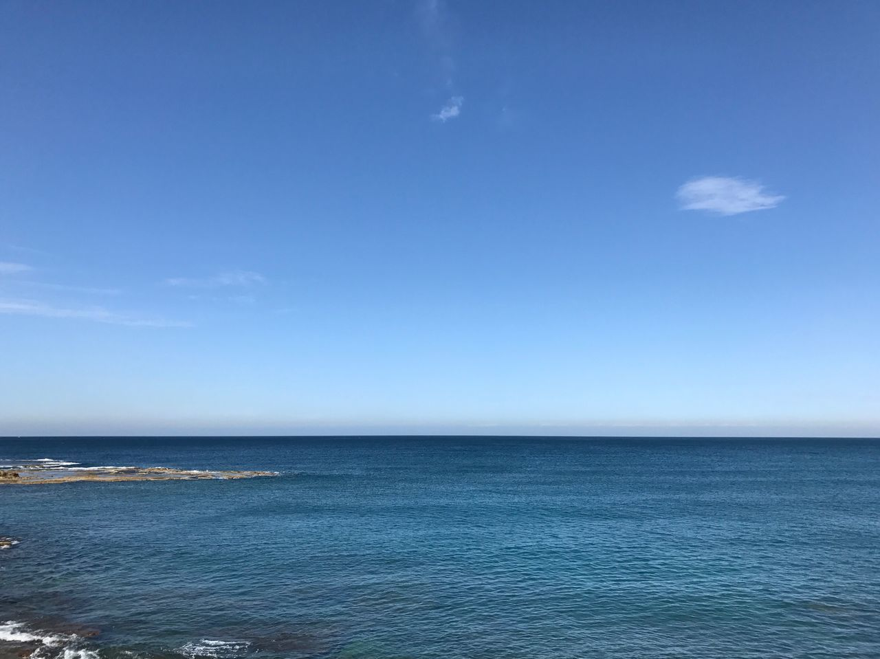 View from the office. Blue Mediterranean  Sea Nofilter