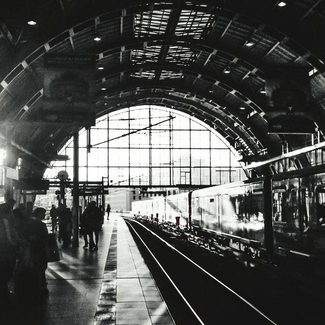 Railway - Alexanderplatz Berlin (DE) Alexanderplatz Berlin Blackandwhite Railway Www.massimilianoranauro.com Streetphotography Creative Light And Shadow Streetphoto_bw The Street Photographer - 2015 EyeEm Awards