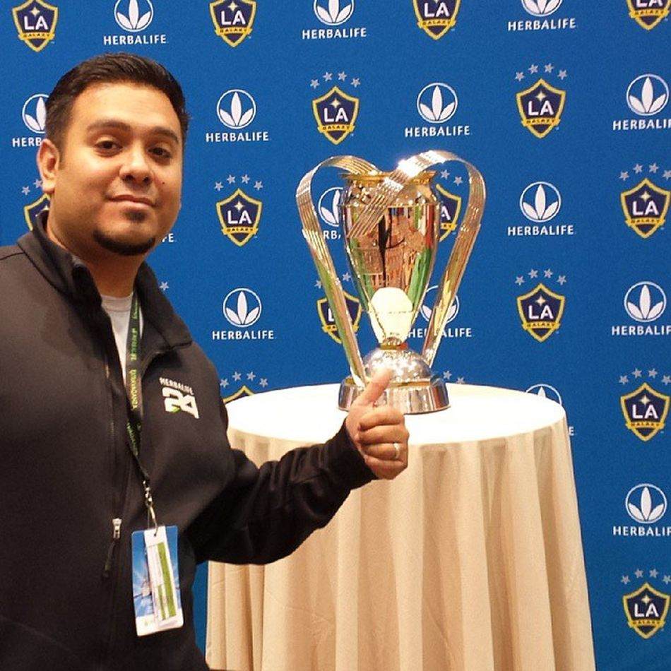 Pretty nice trophy but it still isn't as beautiful as the World Cup. Workrelated LAGalaxy Vegas  Herbalifeextravaganza mlscup champs futbol