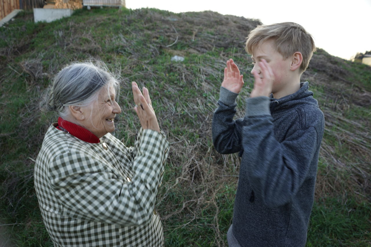 Beautiful stock photos of granny,  12-13 Years,  80 Plus Years,  Adult,  Boys