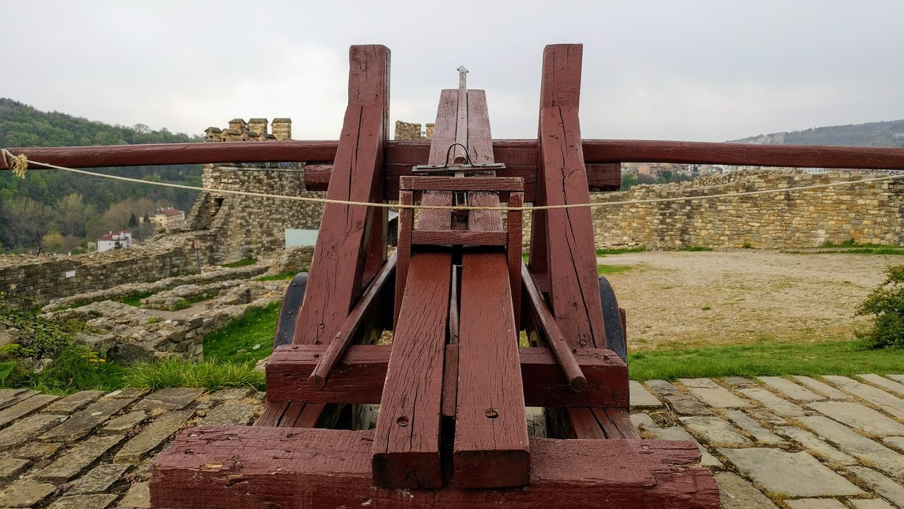 antique ballista No People Day Outdoors Sky EyeEmNewHere Castle Ballista Antique Fragility Close-up