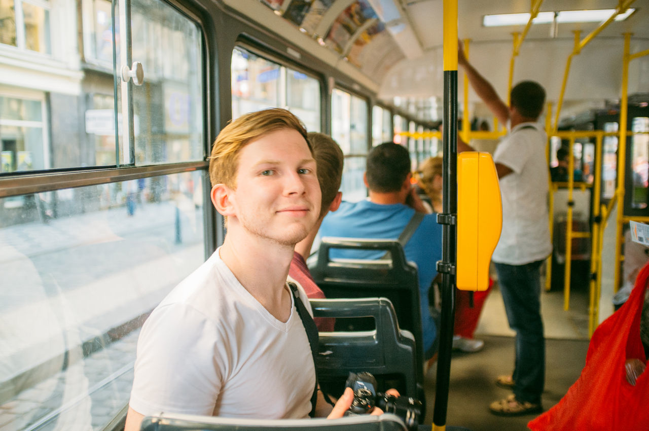 Beautiful stock photos of prague, 25-29 Years, Bus, Caucasian Ethnicity, City Life