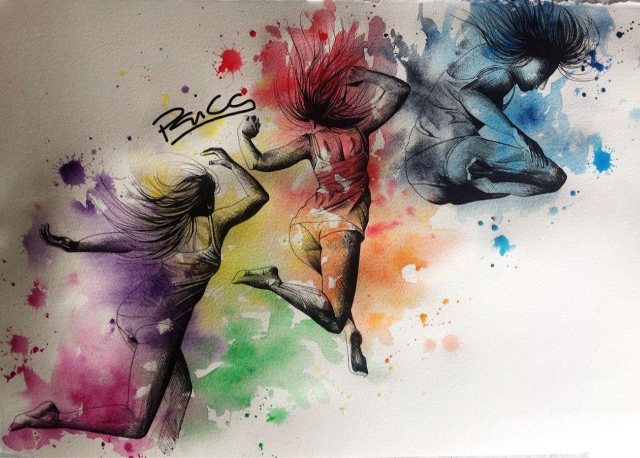 Vibration Art Painting Artist Colorful
