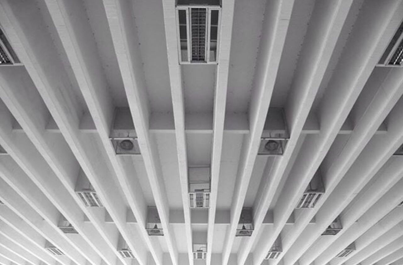 Built Structure Architecture Pattern No People Indoors  Architectural Design School Bangkok Photo Check Thailand Camera Canon Canonphotography Architecture Blackandwhite Stripes Everywhere Stripes Pattern Lines Lines And Shapes