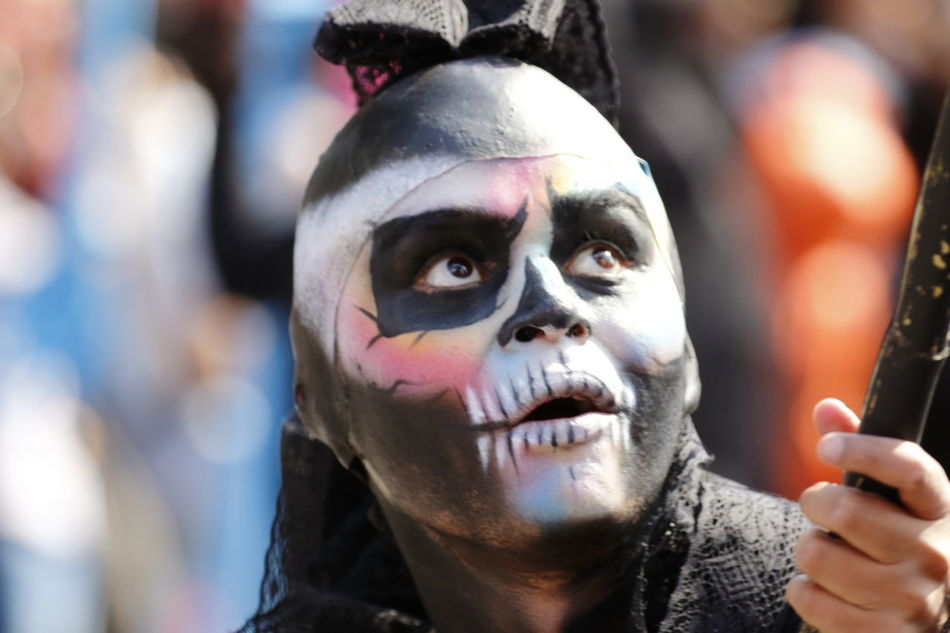 Dıa De Muertos Focus On Foreground Lifestyles Mexico Mexico City Outdoors Parade Tradition Traditional Culture