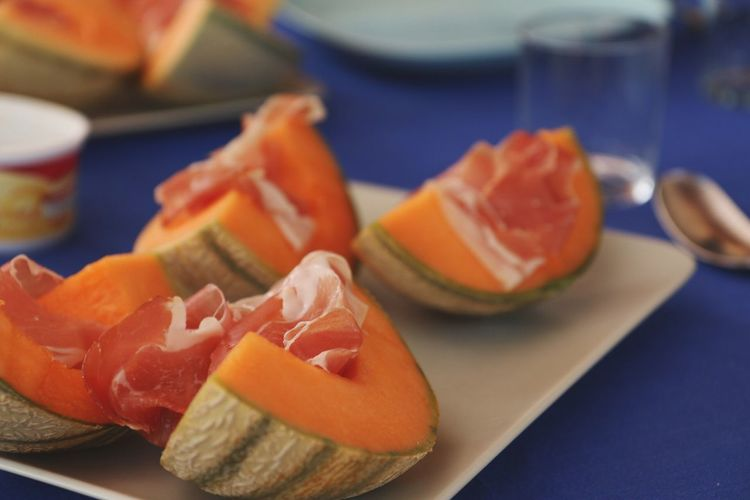 Fresh fruits Food Fresh Melon Proscuitto Appetizer