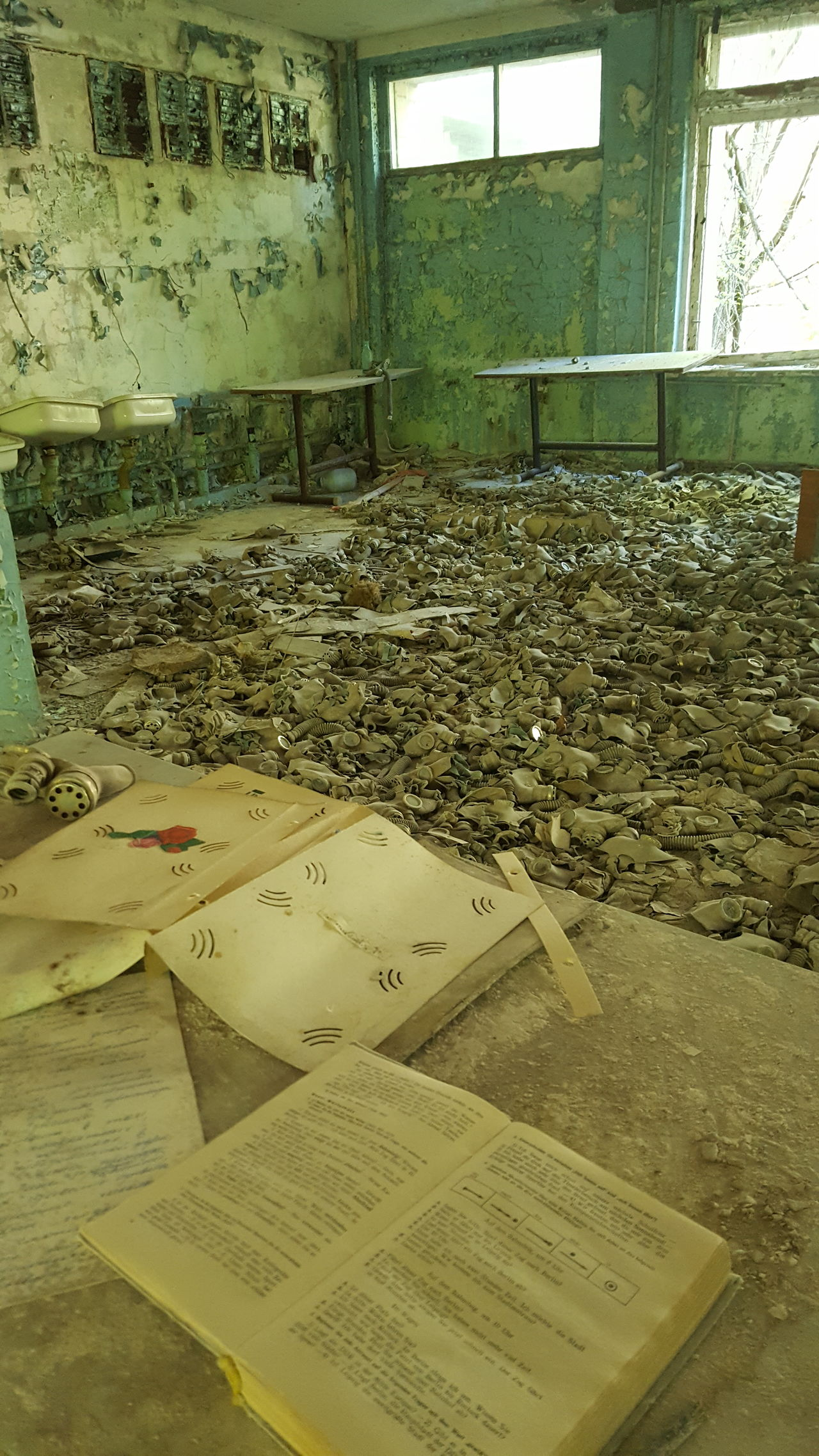 Room full of gas masks Chernobyl exclusion zone Ghost Town Abandoned Lost Places Lost Place Eyem Best Shots EyEmNewHere Soviet Ukraine Chernobyl Pripryat Nuclear Book Ruin Old Chernobyl Exclusion Zone Eerie Eerie Beautiful Run Down Broken