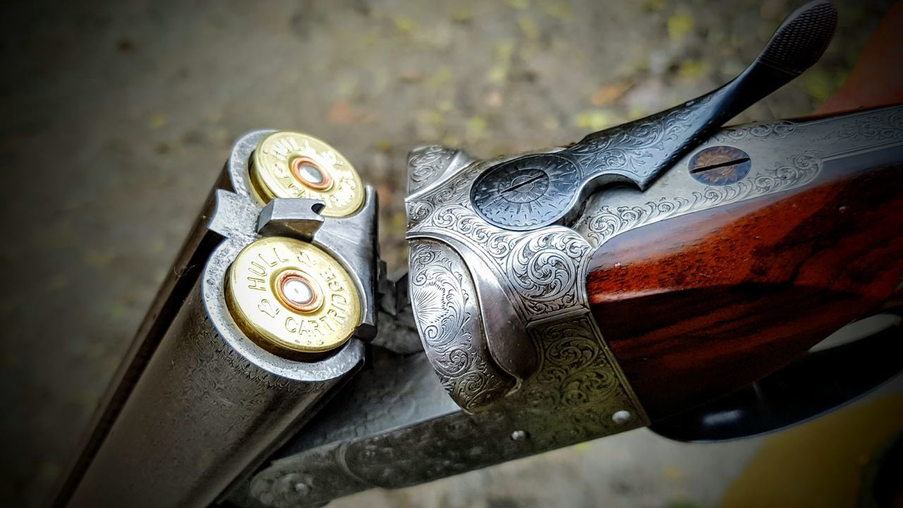 Business Finance And Industry Close-up Day Gun Hunting Metal No People Old-fashioned Outdoors Pheasant Shotgun