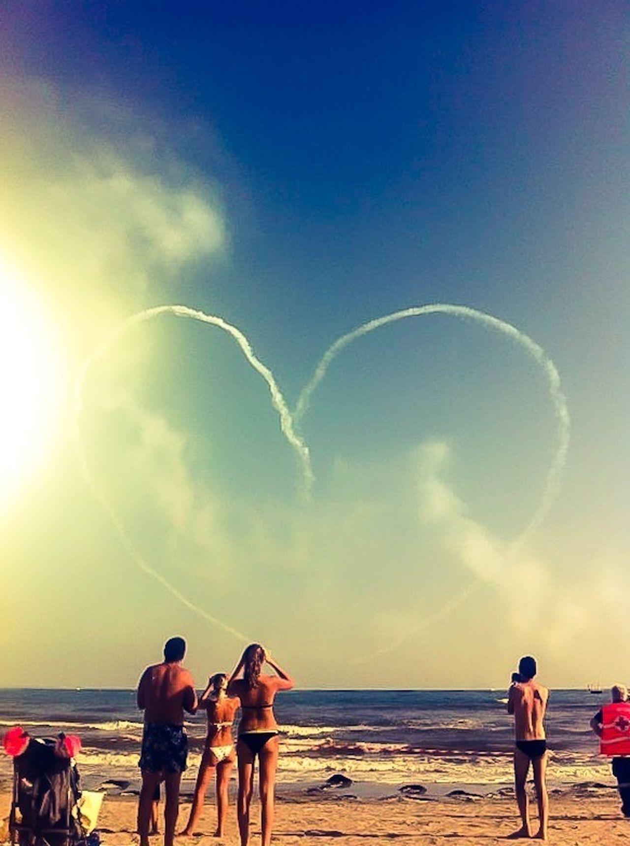 Summertime Beach Blue Sky Hart The Moment - 2014 EyeEm Awards