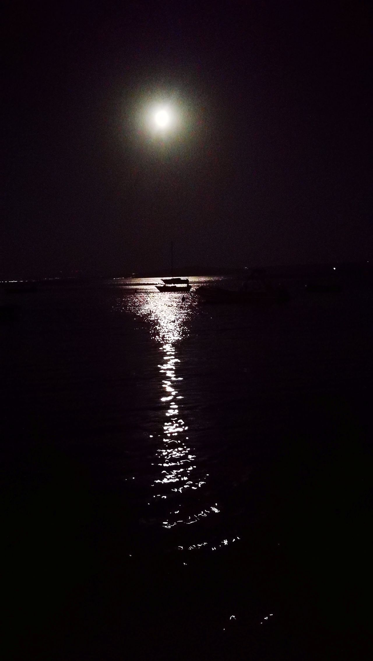 Moon Night Reflection Astronomy Water No People Star - Space Nature Scenics Tranquility Sea Space Outdoors Beauty In Nature Sky Illuminated Astrology Sign Galaxy Nature Beauty In Nature