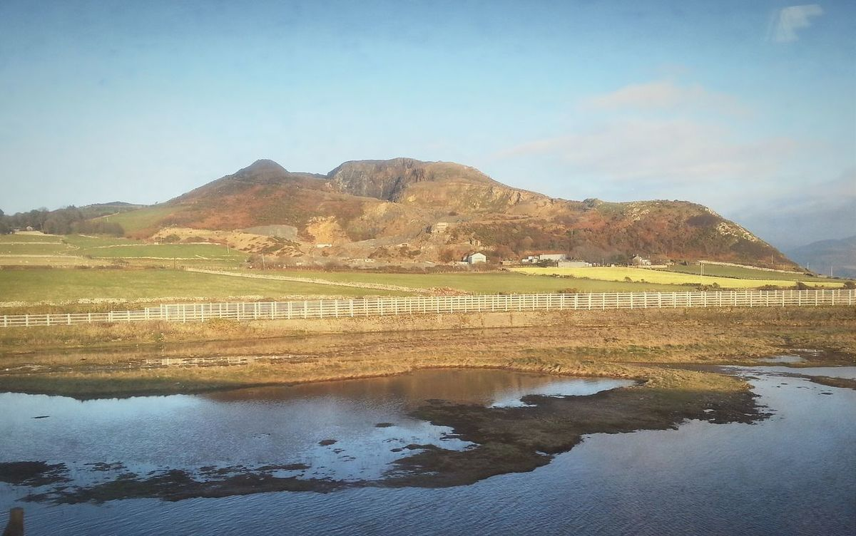 Not a Reflection ... Wales Mountains Hills Water Winter North Wales Tywyn Train Ride холмы