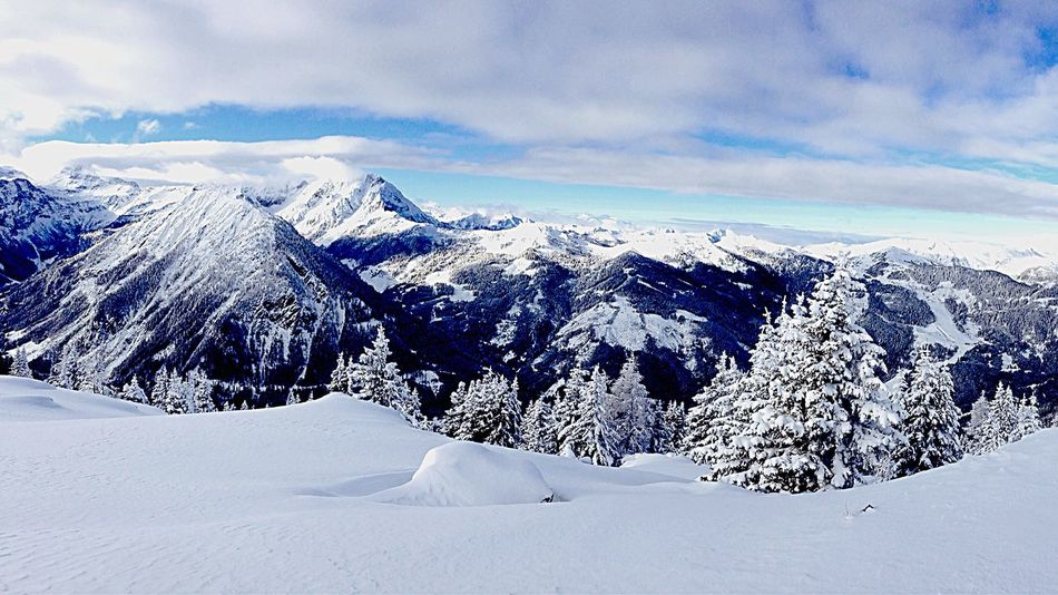The Most Beautiful View in the world.❣🎿🏂 Skiing Snowboarding Snow Trees Blue Sky