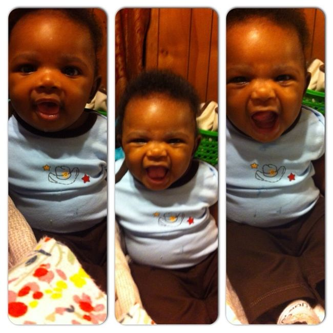 He a lil slobbish character y'all!!!