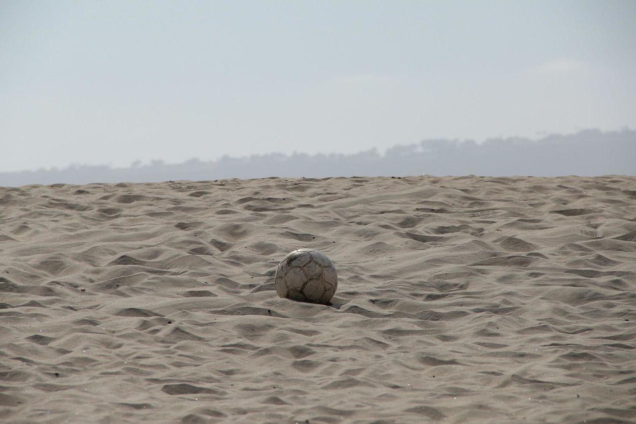 Beautiful stock photos of soccer balls, Absence, Ball, Beach, Clear Sky