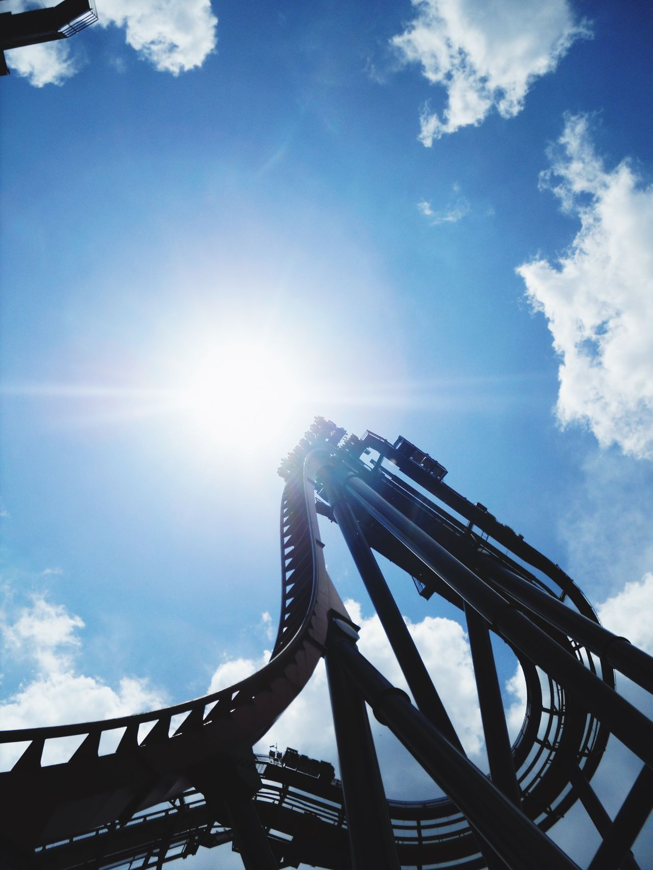 Beautiful stock photos of roller coaster, Amusement Park, Amusement Park Ride, Arts Culture And Entertainment, Cloud - Sky