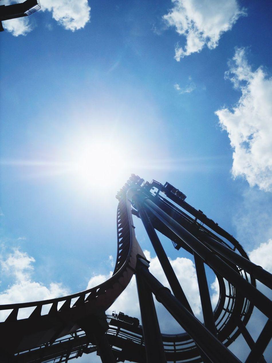 Beautiful stock photos of roller coaster, Amusement Park, Amusement Park Ride, Arts Culture And Entertainment, Cloud - Sky