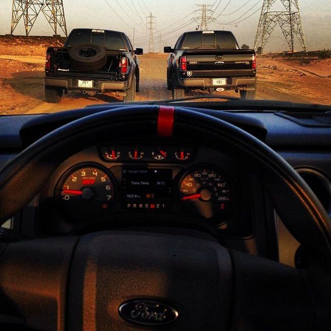 Boyz up to no good Svtraptor Fordraptor Desertnation Offroadnation truckdaily sdhq idv