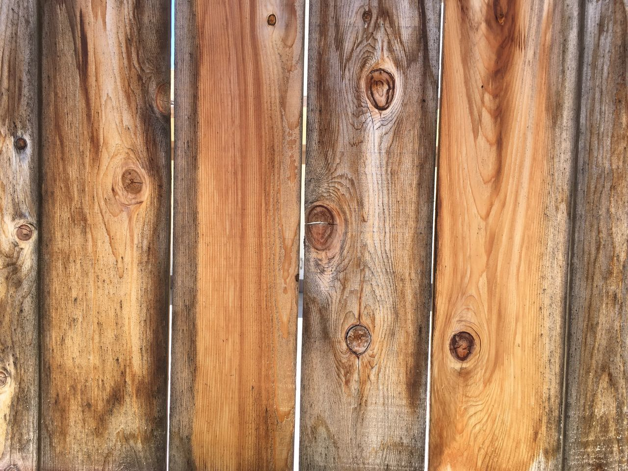 Natural Pattern Wood Fence Separation of Neighbors Wood - Material Close-up Brown