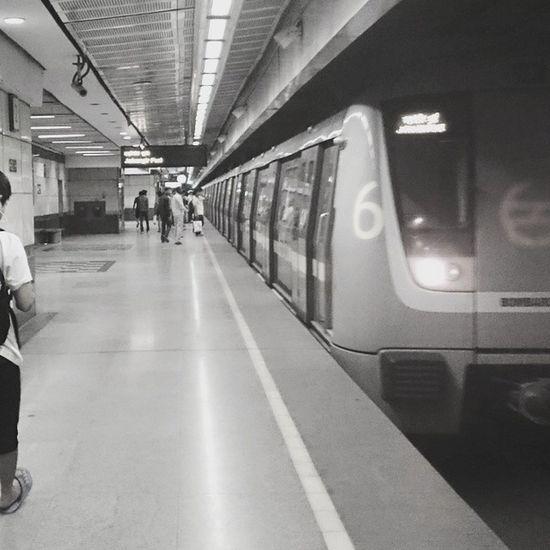 The city's lifeline. Delhi Metro DMRC Delhiuniversity