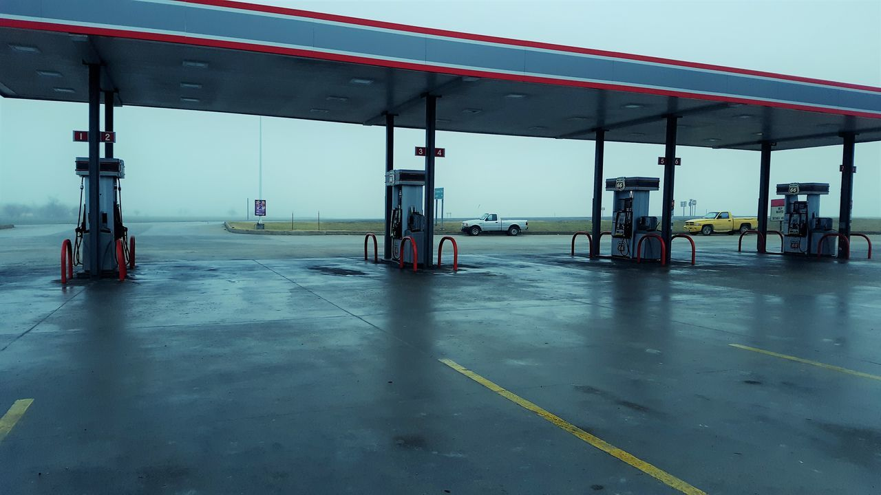 Built Structure City Day Fuel Pump Gas Gas Pump Gas Station Industrial Building  Industry No People Outdoors Refueling Station