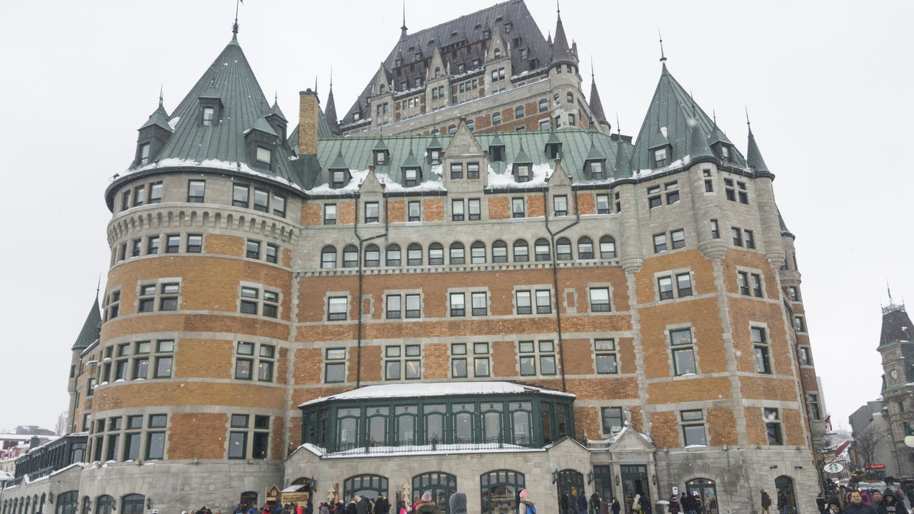 Fairmont Le Chateau Frontenac snow external view of the iconic grand hotel inside the walls of Old Quebec. Luxury Architecture Attraction Canada Canadian Castle Château Fairmont Fairmont Le Château Frontenac FairmontHotel Five-star Frontenac Frontenac Castle Hotel Hotel View Landmark Quebec Quebec City Quebec Hotel Quebec, Canada Travel Travel Destinations Travel Photography Vacation Vacation Destination