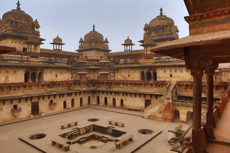 Jahangir Mahal, Orchha, India Architecture Built Structure Cultures Hinduismus India Indian Culture  Jahangir Jahangir Mahal Palace Maharadscha Majestic Orchha Palace Politics And Government Travel Destinations World Heritage Site
