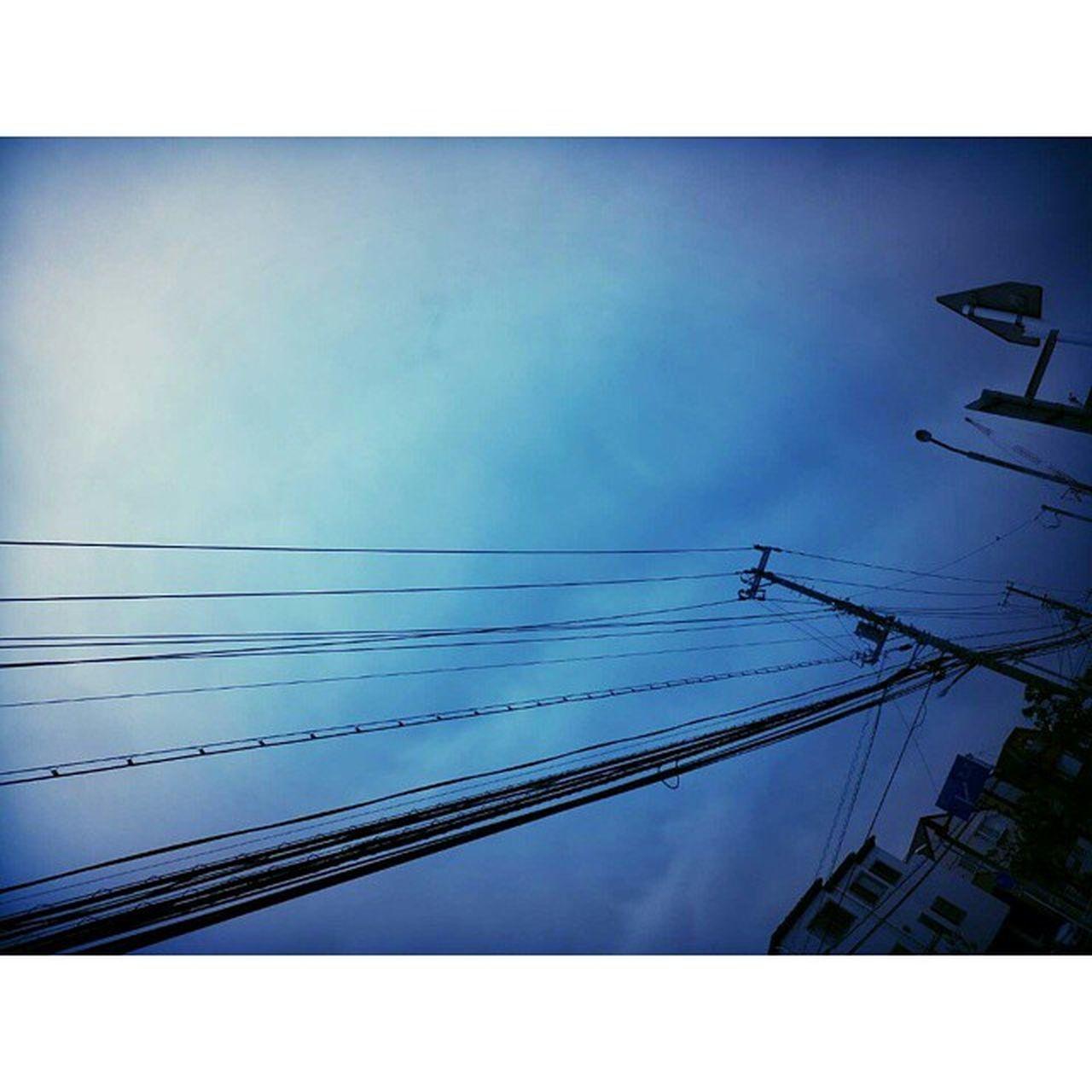 電柱 電線 英語でつぶやく It was a relaxing day.