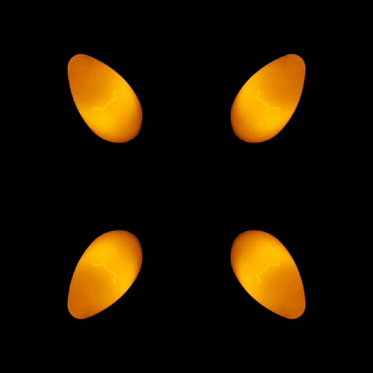 Yellow Glow Yellow Glow Subtle Symmetry Close-up Orange Orange Glow Dark Light Light Bulbs