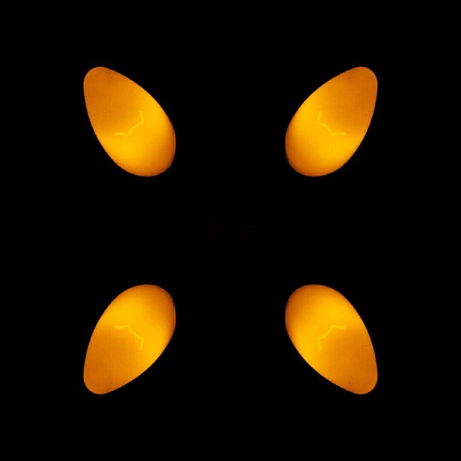 Yellow Glow Yellow Glow Subtle Symmetry Close-up Orange Orange Glow Dark Light Light Bulbs