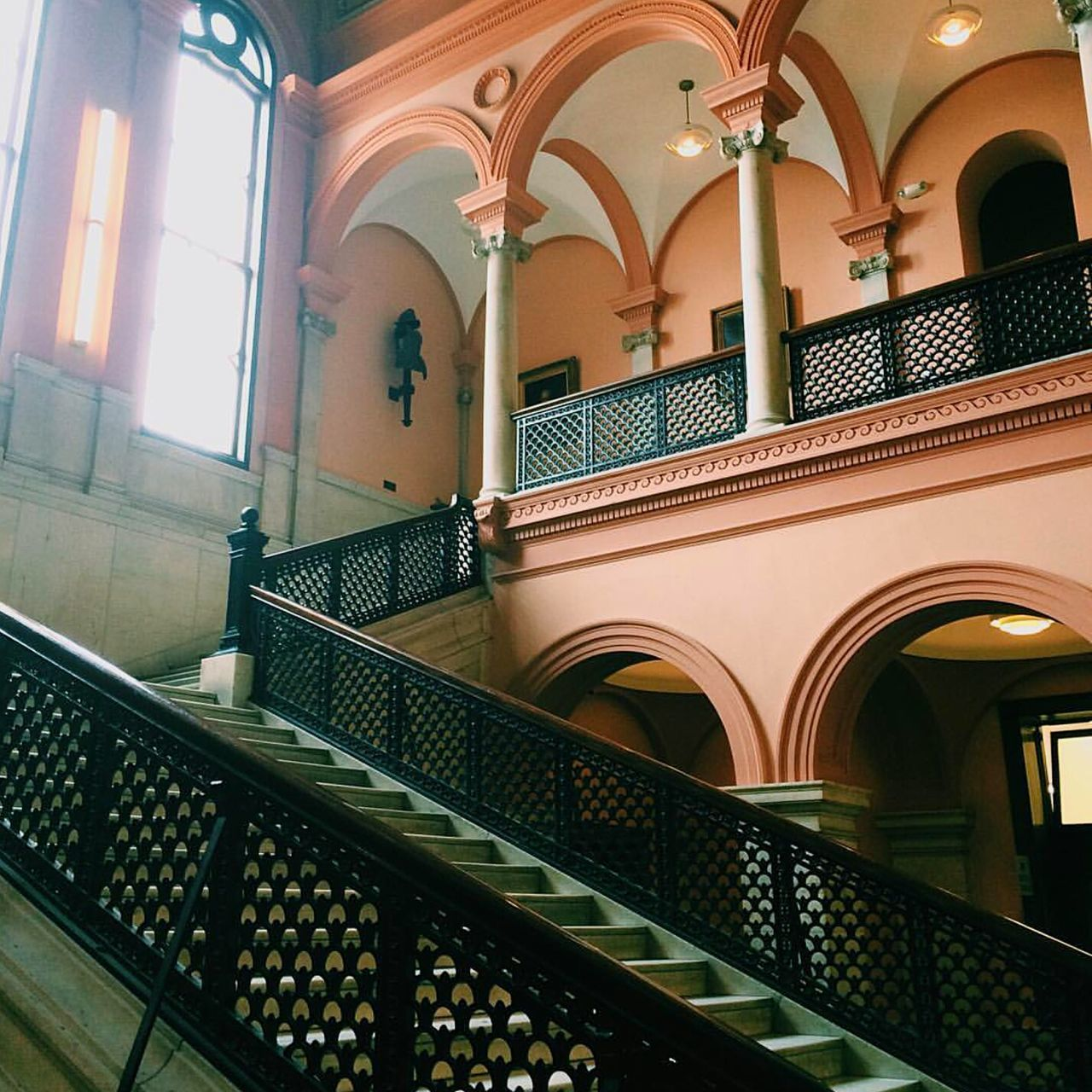 Interior Style Detail Architecture Patterns Shapes Tecture Newengland Cityhall Color Steps Stairs Balcony Revival 2016