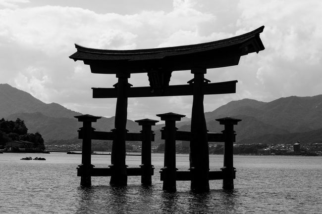 Architecture Built Structure Culture Cultures Famous Place International Landmark Lake Mountain Mountain Range Nature Outdoors Place Of Worship Religion Scenics Sky Spirituality Temple - Building Torii Gate Tourism Tradition Tranquil Scene Tranquility Travel Destinations Water Waterfront