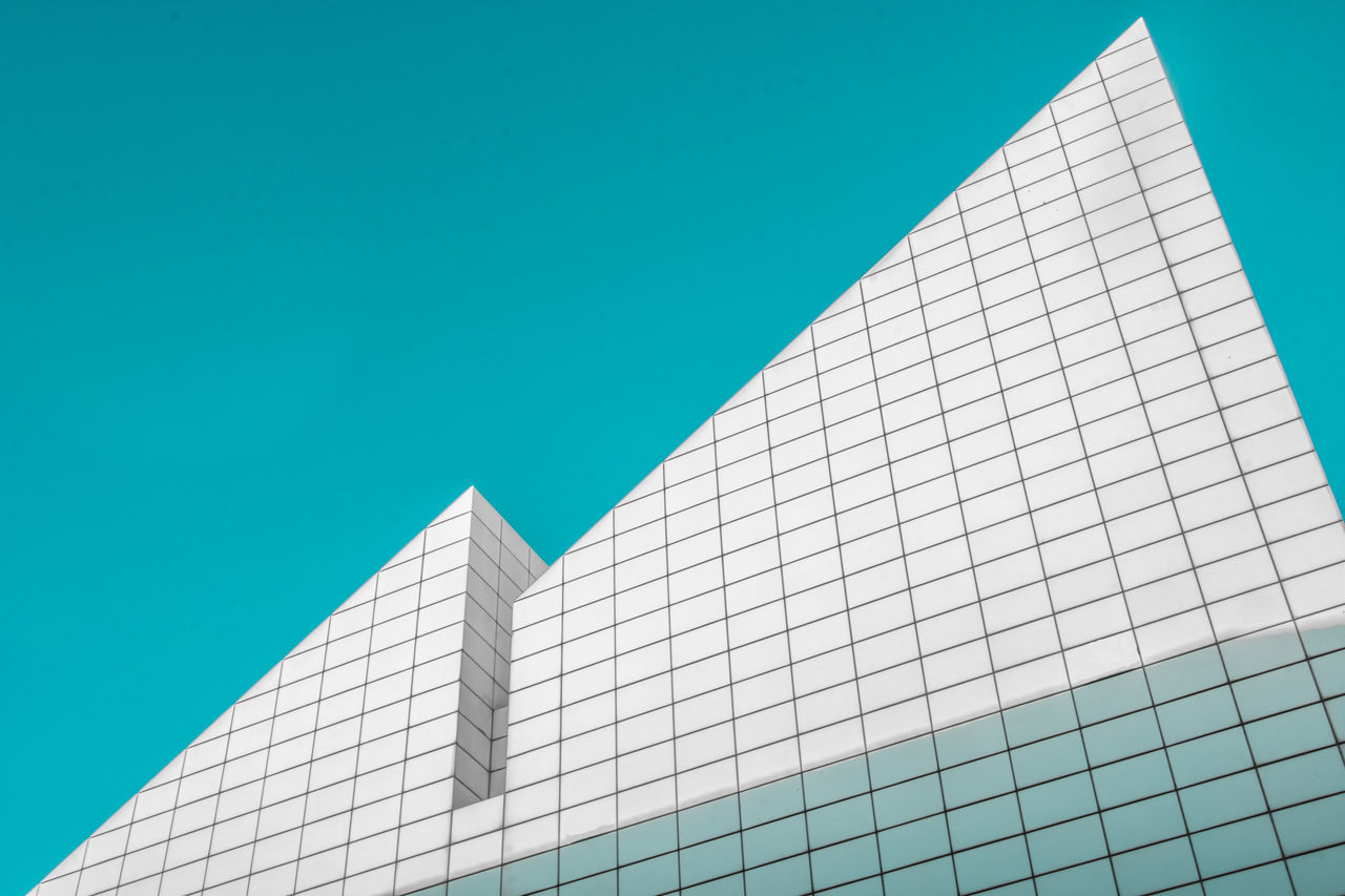 architecture, building exterior, built structure, low angle view, clear sky, city, modern, no people, building, outdoors, day, skyscraper, sky