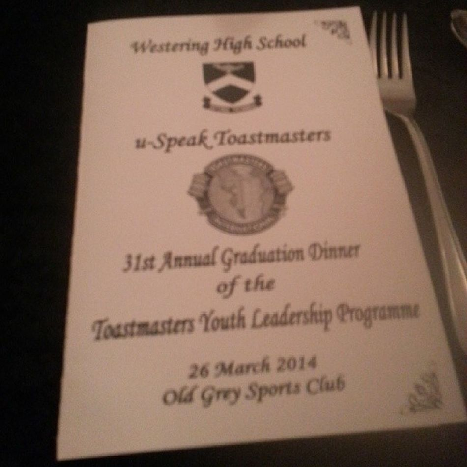 Toastmasters youth leadership programme
