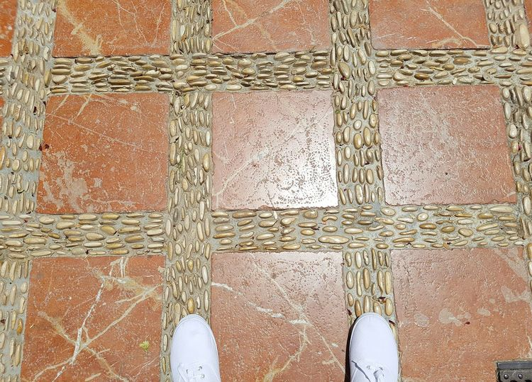 Feet Feets Feet On The Ground Feetselfie From My Point Of View From Where I Stand Paved Cobbled Backgrounds Copy Space Background Background Texture Marbella SPAIN Two Is Better Than One