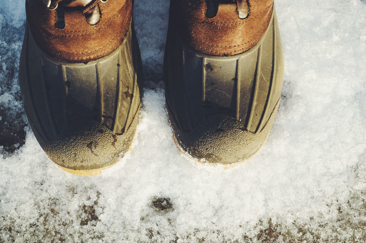 winter boots on snow Close-up Shoe Low Section Shoe Boots Rubber Boots Winter Boots Feet Snow Winter Cold Cold Temperature Cold Days Cold Weather Frost Frosty