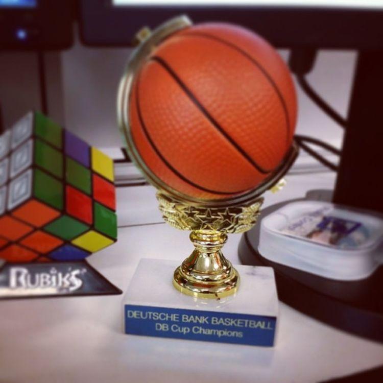 DB Cup, back on my desk where it belongs