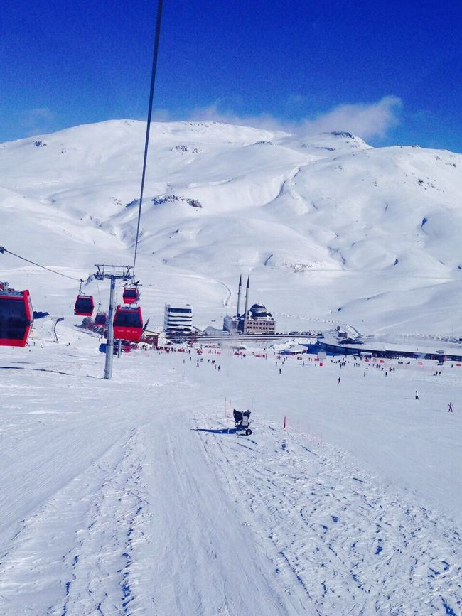 Snow Winter Cold Temperature Nature Sky Beauty In Nature Transportation Outdoors Day Tranquil Scene Frozen Scenics Erciyes Kayak Kar Imstagram Cold Landscape Mountain Ski Lift No People First Eyeem Photo