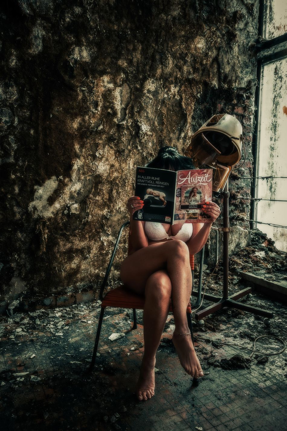 Beautytime Abandoned Urbexphotography Abandoned Places Woman Portrait Women Portraits Beautiful Woman PortraitPhotography Beauty Of Decay Portrait Women Of EyeEm Portrait Of A Woman Fine Art Photography Self Portrait Chair Sitting Lifestyles Faces Of EyeEm EyeEm Gallery Beauty