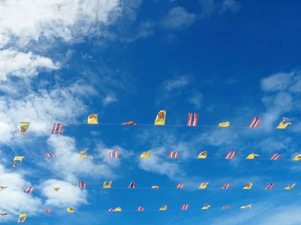 Beautiful stock photos of thailand, Amphawa, Blue, Bunting Flag, Cloud - Sky