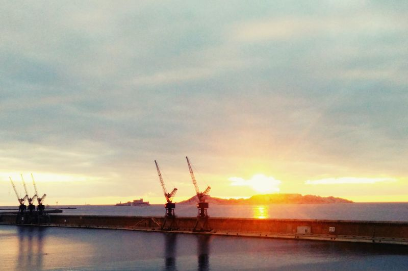 Marseille Sunset #sun #clouds #skylovers #sky #nature #beautifulinnature #naturalbeauty Photography Landscape [a:20] Roof Top Instapic Europe Capture The Moment Sunset Frioul Chateau D'if Docks Seaside EyeEm Best Shots Instagood EyeEmBestPics Mer Port