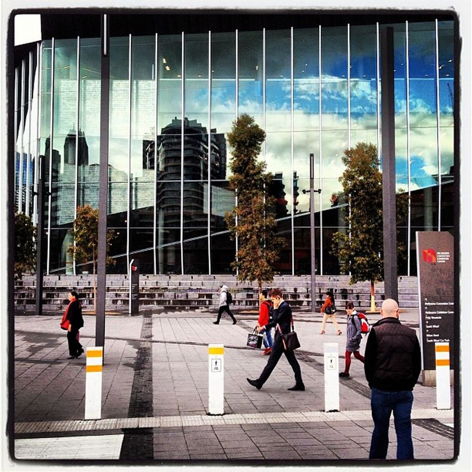 #reflections of the #city of #melbourne on #southbank that is raff66 in the bottom right corner Melbourne Reflections City Southbank