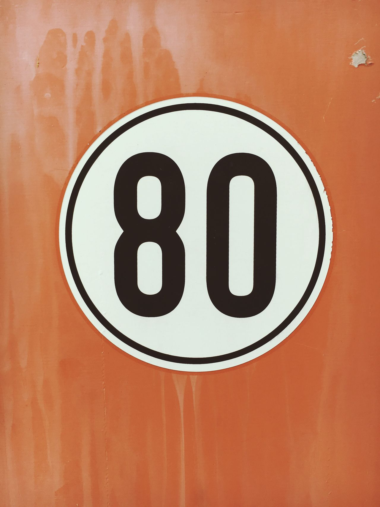 80 Eighty Communication Close-up Number No People Day Architecture Indoors  Wall Sign Signs
