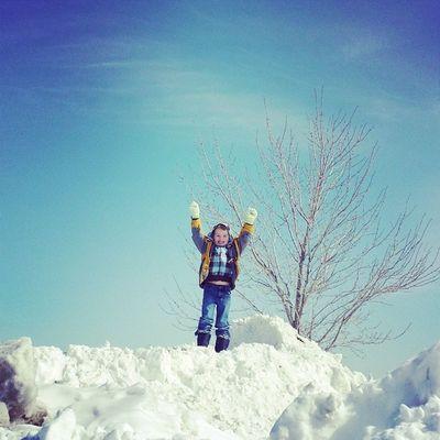 King of the mountain Winter Childrenofinstagram Thedarkroom46 Snowcute
