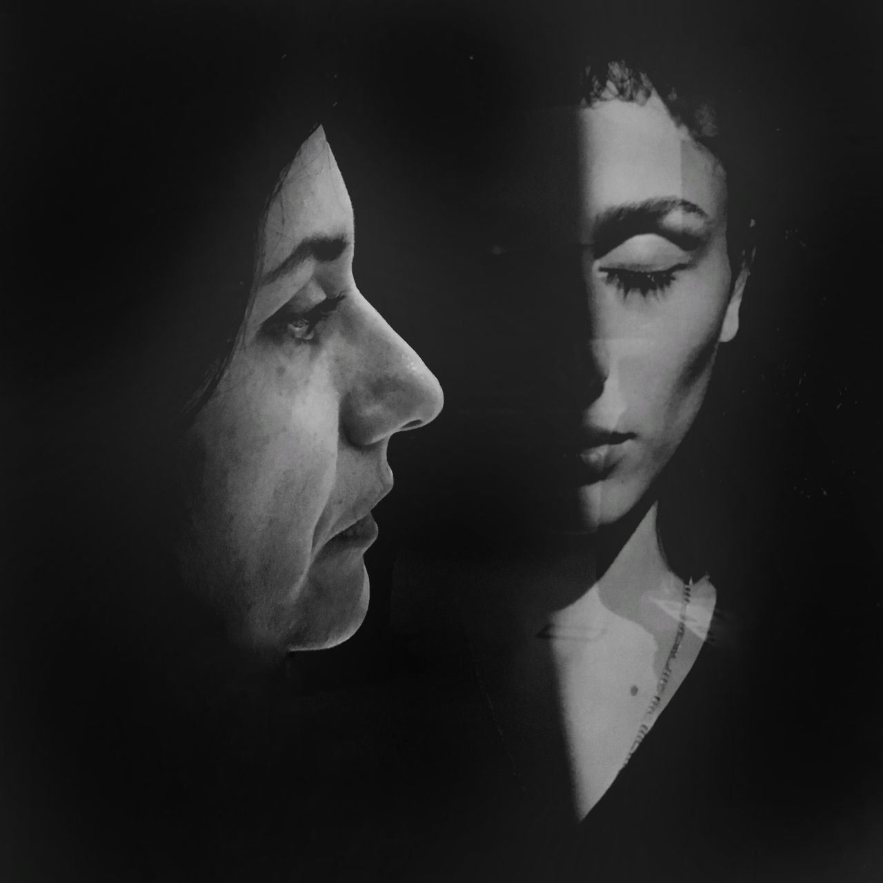 Open-Closed. Homage to Letizia Battaglia Adult Beautiful Woman Black & White Black And White Photography Blackandwhite Closed Eyes Homage Human Face Letizia Battaglia MAXXI MAXXI Museum Rome Italy MAXXI Roma Open Pain Painful Portrait Portrait Of A Woman Potraiture Young Adult Young Women