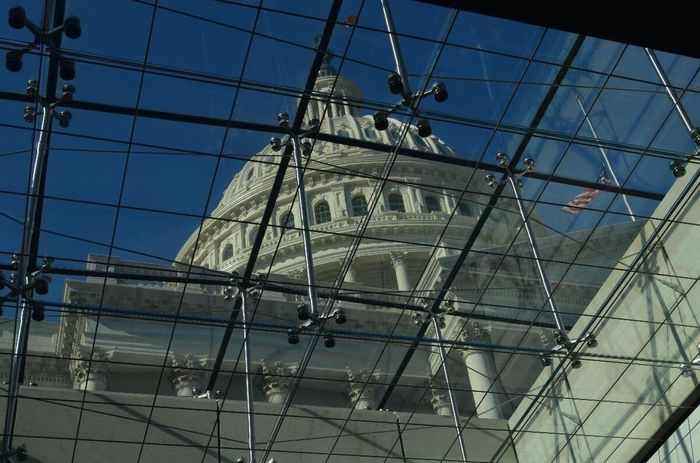 Low Angle View Architecture Built Structure No People Day Mast Sky Building Exterior Outdoors Nature Tall Ship Washington, D. C. US Capitol Building