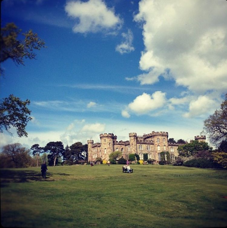 Cholmondeley Castle Cholmondeley Gardens Blue Sky Enjoying The Sun Family Time Green Banks Taking Photos Check This Out Clouds And Sky Colors Cloudporn Iphoneonly IPhoneography Best Sky Ever People On A Bench Castle Gardens Castle Garden Showcase: February EyeEm Best Shots - Landscape