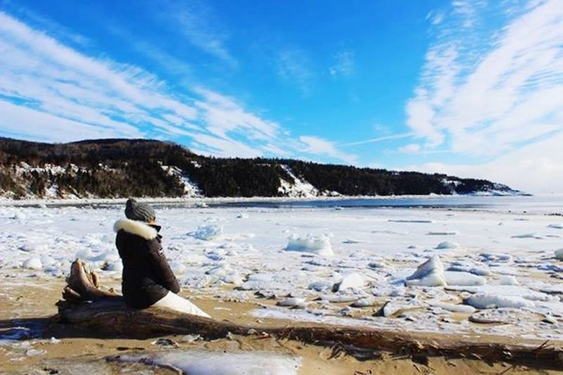Travel Tadoussac Quebec, Canada Wintertime Cold Sunny Day Ice White Beach To Québec Canada Canada Photos